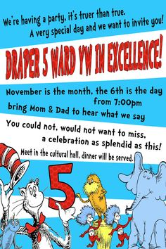 My LDS Life: Dr. Seuss YW in Excellence