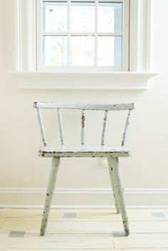 white painted chair