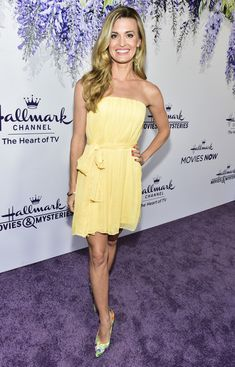 Brooke D'Orsay attends the 2018 Hallmark Channel Summer TCA at a private residence on July 26, 2018 in Beverly Hills, California.