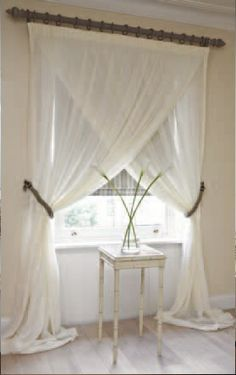 Prêt à Vivre | Voiles: Plain & Matira - voile ecru curtains with pencil pleat heading
