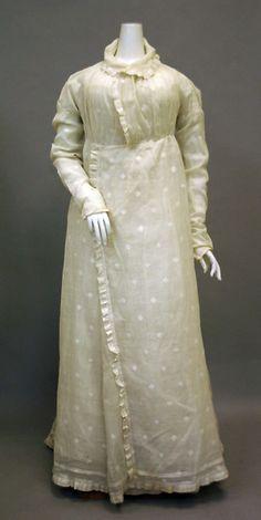 Cotton Morning Dress, 1810-20