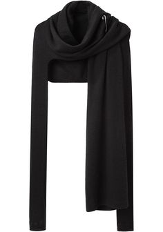 Y'S BY YOHJI YAMAMOTO, DOUBLE SLEEVE CARDIGAN, black wrap asymmetrical. #minimalist #fashion #style
