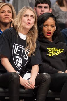 Hang time for RiRi and Cara on their girls night out