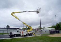 Commercial Electric Work Light Parking Lot Light Pole Installation  Industrial Electrical Work