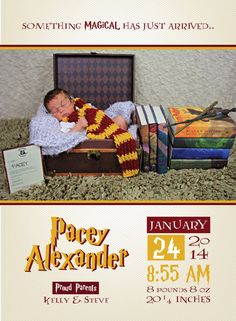 HARRY POTTER ANNOUNCEMENT // New Baby by RealWhenShared, $25.00