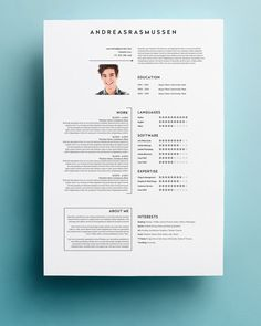 Professional Resume Template | CV Template + Cover Letter + Reference Letter for MS Word | Instant Digital Download | Mac or Pc