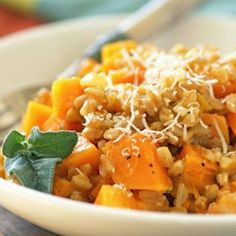 15-Minute Farrotto with Sage and Butternut Squash