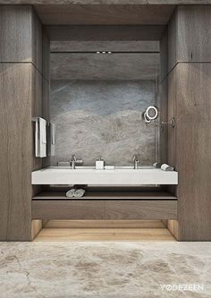 wood walls in bathroom details