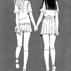 A place to ask , Mari-chan (from the manga Girfriends) anything you want! Also a place that will feature images and scans from Shoujo-ai and Yuri anime and manga Anime Girlxgirl, Yuri Anime, Anime Art, Cute Lesbian Couples, Lesbian Art, Anime Couples, Gothic Anime, Girls In Love, Manga Art