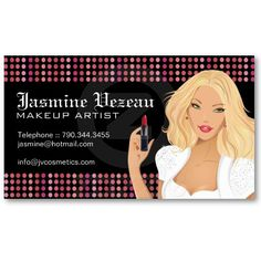 Hip makeup artist business cards business cards ideas pinterest makeup artist business cards accmission Images