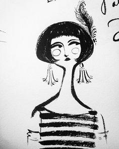 I love letting my ink pen get a little dry. • #art #illustration #characterdesign #design #sketchbook #artistsoninstagram