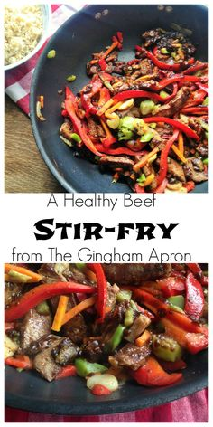 Healthy Beef Stir Fry No sugar and no hidden carbs! This stir-fry is healthy and super delicious. (A Trim Healthy Mama S recipe)No sugar and no hidden carbs! This stir-fry is healthy and super delicious. (A Trim Healthy Mama S recipe) No Carb Recipes, Cooking Recipes, Healthy Recipes, Cooking Bacon, Crockpot Recipes, Dishes Recipes, Budget Recipes, Cooking Wine, Cooking Videos