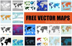 Here are 32 high-quality vector world maps in various presentations, colors and perspectives. Useful for infographics, website design, banners, etc. Map Vector, Vector Free, Free Graphics, Free Design, Design Elements, Cool Designs, Presentation, Photo Wall, Design Inspiration