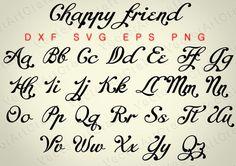 Chappy friend Fonts dxd PNG svg eps Alphabets от VectorArtCraft