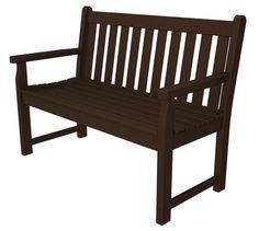 "Polywood TGB48MA Traditional Garden 48"" Bench in Mahogany"