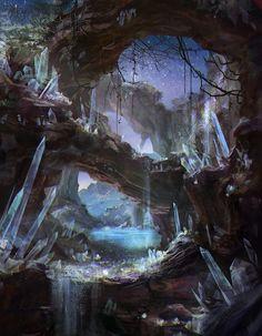 art cg art fantasy landscapes  painting digital landscapes cg
