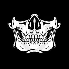 Skull Face Mask, Diy Face Mask, Face Masks, Cute Faces, Funny Faces, Fille Anime Cool, Mascaras Halloween, Skeleton Mask, Skull Stencil