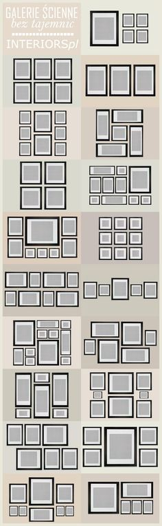 I have a corner with two x two panels. I could use the four square next two the large with four small. Hmmm. wall collage pattern ideas