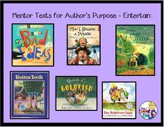 Mentor texts to teach Author's Purpose: To Entertain