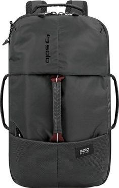 Backpack, duffel or weekender. You have choices with this roomy hybrid bag from Solo. A separate laundry compartment keeps the interior organized, while a tech pocket protects electronics. Backpack Online, Backpack Brands, Backpack Reviews, Backpack Straps, Duffel Bag, Weekender, Baby Clothes Shops, Black Backpack, Mens Gift Sets