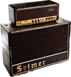 1960s Selmer Truevoice Treble 'N' Bass Crocodile Serial # 22338