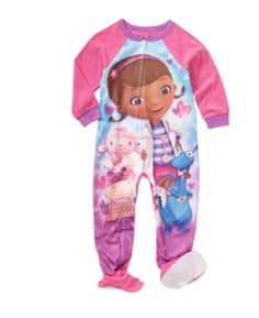 Girls Doc McStuffins Footed Blanket Sleeper Pajamas 12m-5t