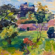 Henry Finkelstein, The New Plum Tree, oil on linen, 58 x 58 inches, at Valley House Gallery