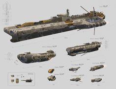 ArtStation - Lumeris Spaceships, Thomas du Crest