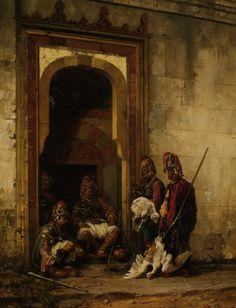Stanislaus von Chlebowski, Bazouks in a Doorway (Turkey)