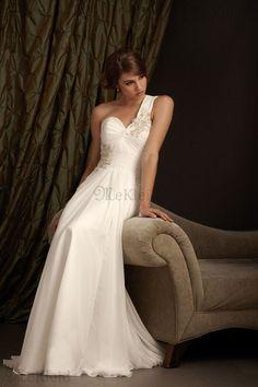 Herz-Ausschnitt Bustier Applikation Meerjungfrau Stil Chiffon Lang Brautkleid - Bild 1