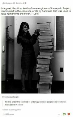 Margaret Hamilton, coder for moonshot