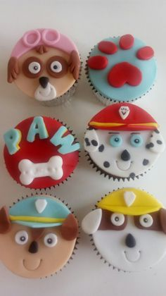 50 Ideas Cupcakes Decoration Cute Cup Cakes For 2019 Paw Patrol Cupcake Toppers, Paw Patrol Cupcakes, Paw Patrol Birthday Cake, Kid Cupcakes, Paw Patrol Party, Fondant Cupcakes, Bolo Do Paw Patrol, Torta Paw Patrol, Mac Cake