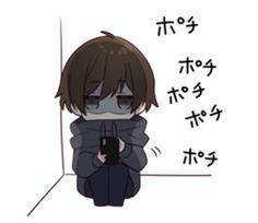 Chibi Boy, Cute Anime Chibi, Cute Anime Guys, Kawaii Anime Girl, Anime Oc, Manga Anime, Anime Grim Reaper, Creepy Images, Anime Expressions