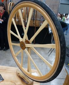 wood? Wooden Bicycle, Wood Bike, Wooden Wheel, Got Wood, Bike Wheel, Bicycle Parts, Cool Bicycles, Bicycle Design, Tricycle