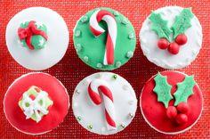 Decorazioni cupcake natalizi