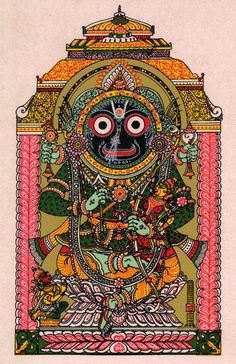 Lord Jagannath as Rama with Lakshmana and Hanuman Krishna Art, Hare Krishna, Hindu Deities, Hinduism, Lord Jagannath, Religious Paintings, Indian Folk Art, God Pictures, Hindu Art