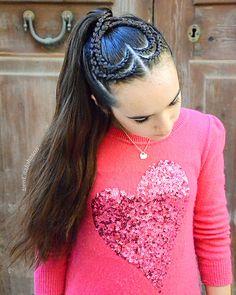 Valentine's Day ponytail