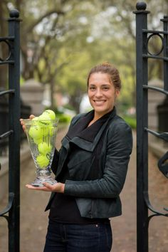 Champ Andrea Petkovic poses with her Cup trophy. Sabine Lisicki, Petkovic, Caroline Wozniacki, Ana Ivanovic, Billie Jean King, Family Circle, Tennis Players, Photo Shoot, Champion