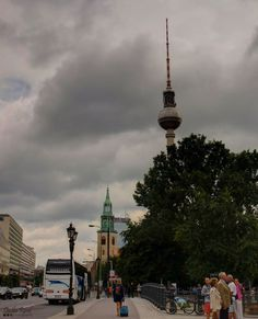 The streets of Berlin are so unlike any other European city's, that you can easily recognize them, no matter what. Particularly when you can see its iconic TV tower in the background. When You Can, Eccentric, See It, Berlin, Germany, Tower, Tv, Street, Rook