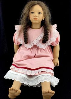 "1983-84 Annette Himstedt Doll LONA Images of CHILDHOOD Series Puppen Kinder 29"" #DollswithClothingAccessories"