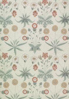 William Morris, Daisy wallpaper. Block-printed paper (1864)