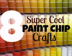 Recently we painted our living room, and during our planning, we had amassed dozens and dozens of paint chip strips. After we had FINALLY decided on a...