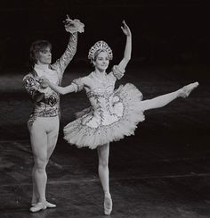 """Happy #TBT! Here's Rudolf Nureyev and Merle Park in """"The Nutcracker"""" Grand Pas, circa 1968 (Photo by Donald Southern courtesy of the Royal Opera House Collections)"""