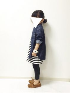 kannn ⁂さんのコーディネート Cute Little Girls Outfits, Little Kid Fashion, Baby Girl Fashion, Toddler Fashion, Kids Outfits, Kids Fashion, Girlie Style, Stylish Kids, Japan Fashion