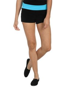 Contrast Waist Yoga Short - Shorts