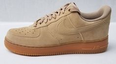 sale retailer 8afa3 e3b2e Nike WMNS Air Force 1 07 SE Low Mushroom Brown Beige AA0287-200 Womens Size  9  Nike