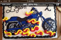 Amanda made this cake for my son Logan at his 2nd Birthday Party! He loves Motorcycles!
