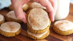 Healthy Soft Pumpkin Cookies with Salted Maple Frosting | Ambitious Kitchen Gluten Free Pumpkin Cookies, Soft Pumpkin Cookies, Maple Frosting, Pumpkin Spice Syrup, Instant Pot Dinner Recipes, Healthy Pumpkin, Healthy Cookies, Fall Desserts, Pumpkin Recipes
