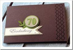 Einladung zum 70. Geburtstag - Kreative4Wände
