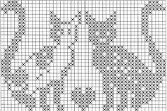 коты, кошки и другие. Crochet Cat Pattern, Crochet Cross, Filet Crochet, Cross Stitching, Cross Stitch Embroidery, Embroidery Patterns, Knitting Paterns, Knitting Charts, Cross Stitch Charts